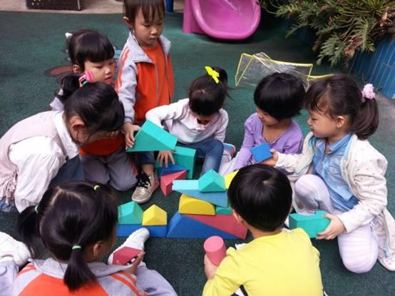 研究目的: 我们级部积极创新建构游戏,除了选择日常常用的积塑、积木等建构材料,还选择了泥沙、废旧物品及纸质品着手研究。首先,泥沙具有可变性。幼儿可以通过揉、捏、搓、挖等多种技能按照自己的意愿来塑造形象。其次,《纲要》中明确指出:指导幼儿利用身边的物品或废旧材料,制作玩具,美化幼儿的生活,开展其他的活动。根据幼儿已有的经验,选择相关的废旧材料,组织幼儿开展建构游戏,激发他们创造美的情趣。让我们身边的物品或废旧材料成为建构游戏材料中的新宠,从而开拓了一条拓展建构游戏材料的新路子。让废旧材料在建构游戏中大放光