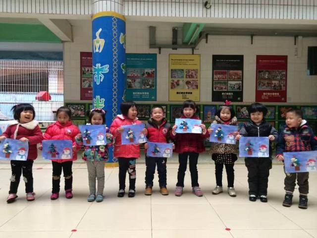 圣诞树粘贴画 - 东莞市外经贸幼儿园