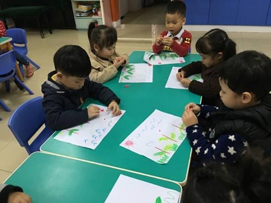 彩泥粘贴画教师节